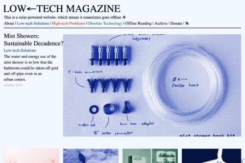 Screenshot of Low Tech Magazine Website