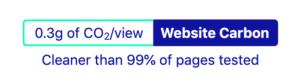 Website carbon badge in light colours