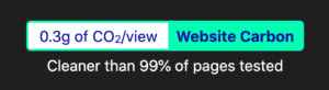 Website carbon badge in dark colours