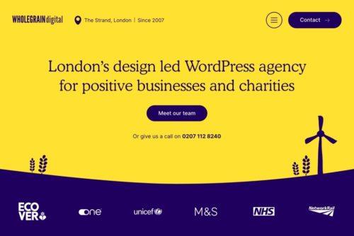 screenshot of wholegrain digital site